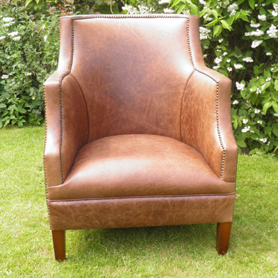 """Alcester High Back Chair"" Chesterfield Sessel"