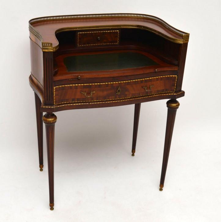 Antiker French Mahogany Writing Table Desk