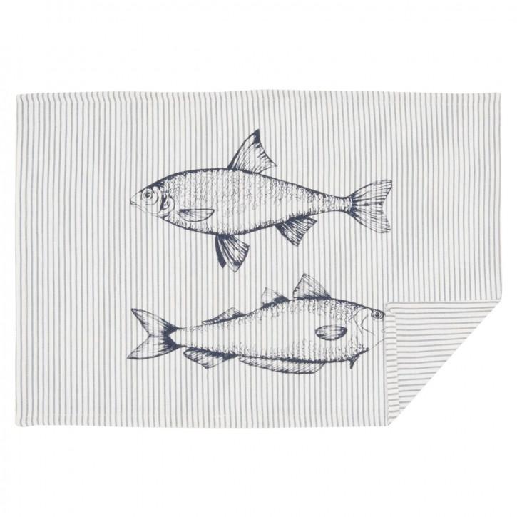 Boat and Fish Tischset Platzdeckchen 6er Set ca. 48 x 33 cm