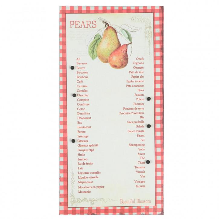Blechschild Einkaufliste ca. 49.5 x 24.5 cm