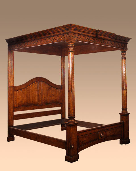 Joined Carved Tester Bed