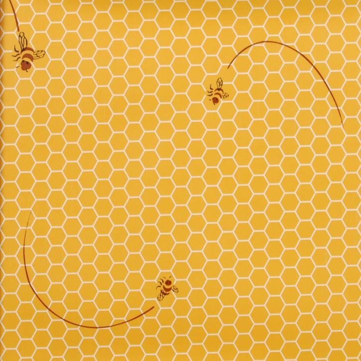 ---- Bienen Wachswabe ---- Wachstuch --- Tischtuch --- Tischdecke --- 14...