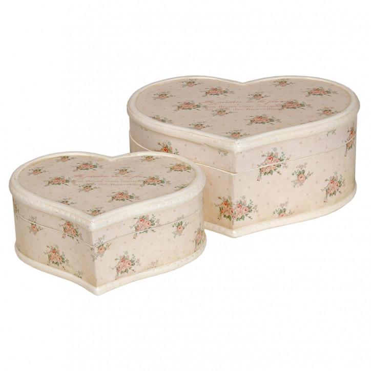 Schachteln in Herzform Blumenmuster (2 Stück)