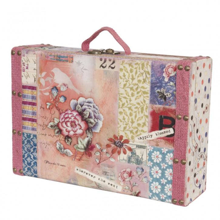Koffer mit Rosenmuster