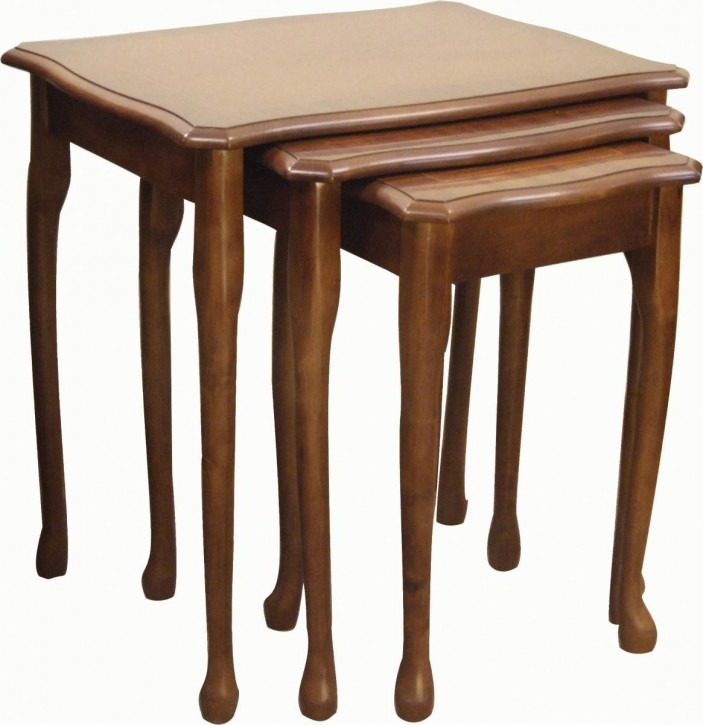 """""""Queen Anne"""" Nest of Tables/Occassional Table in Mahagoni"""