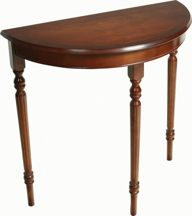 Regency Hall Table Demiloon mit in Mahagoni