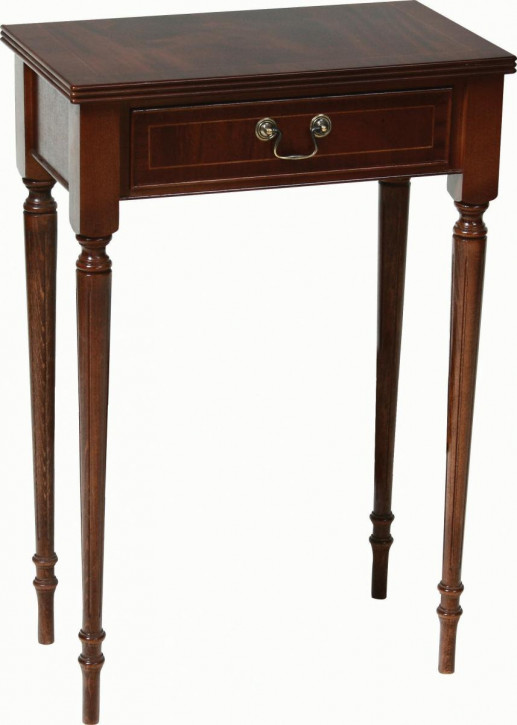 Regency Hall Table mit Schublade in Mahagoni