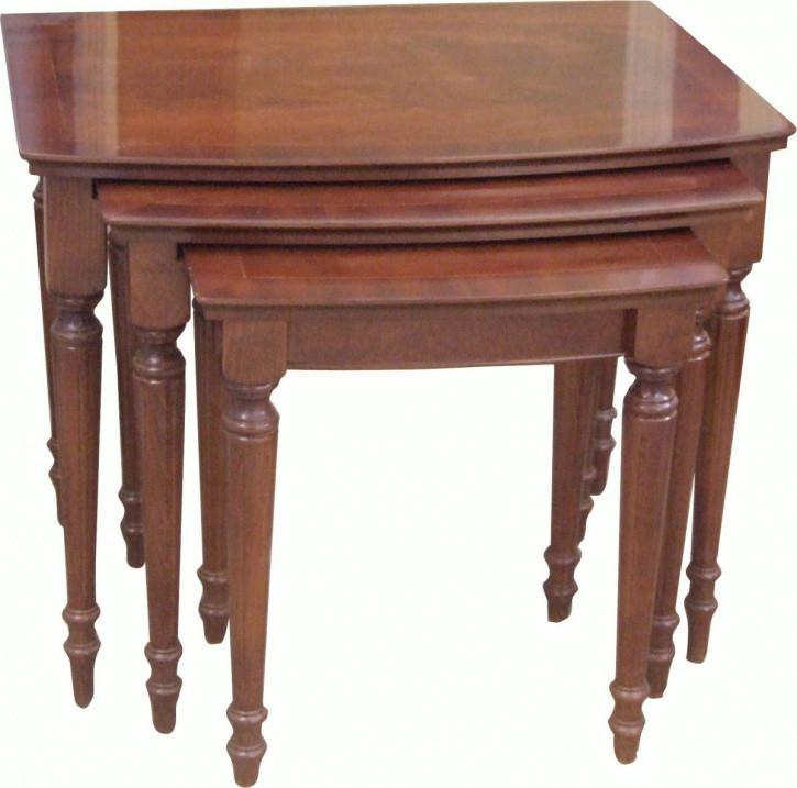 Großes Regency Nest of Tables Sofatische Mahagoni