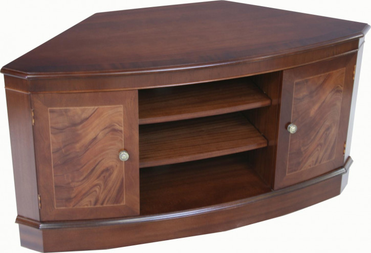 Bow TV Stand in Mahagoni oder Eibe