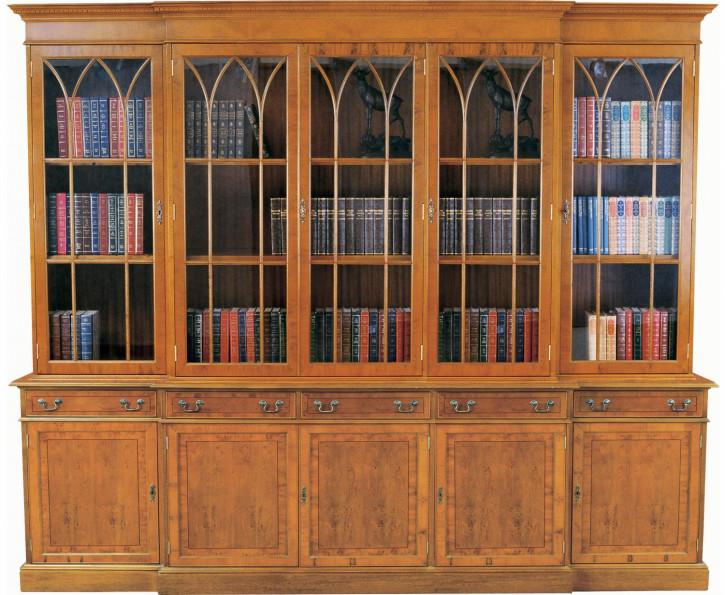 Georgian Bookcase 5 Doors