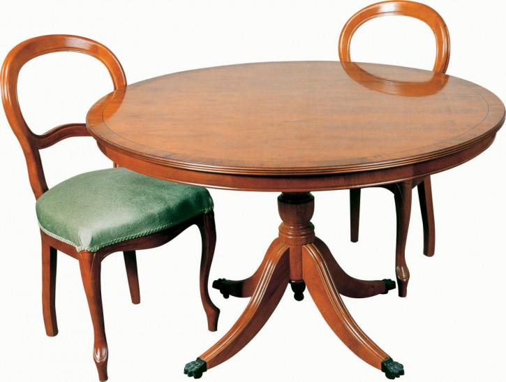 """""""Liverpool II"""" runder Tisch in Mahagoni  Ø 107cm mit Fassung - ebenfalls in Eibe erhältlich"""