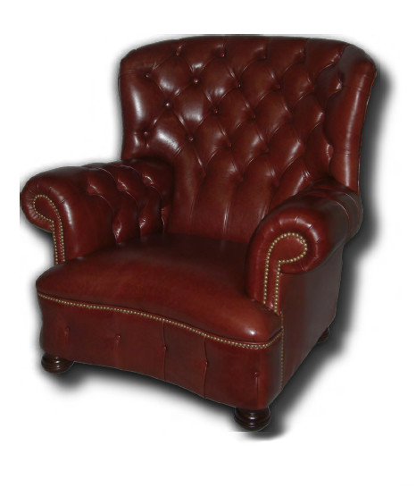 """Balmoral Plain Tub Chair"" Klassischer britischer Chesterfield Sessel Ledersessel Echtleder"