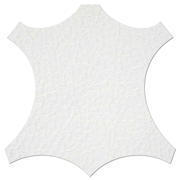 Lederprobe Birch White