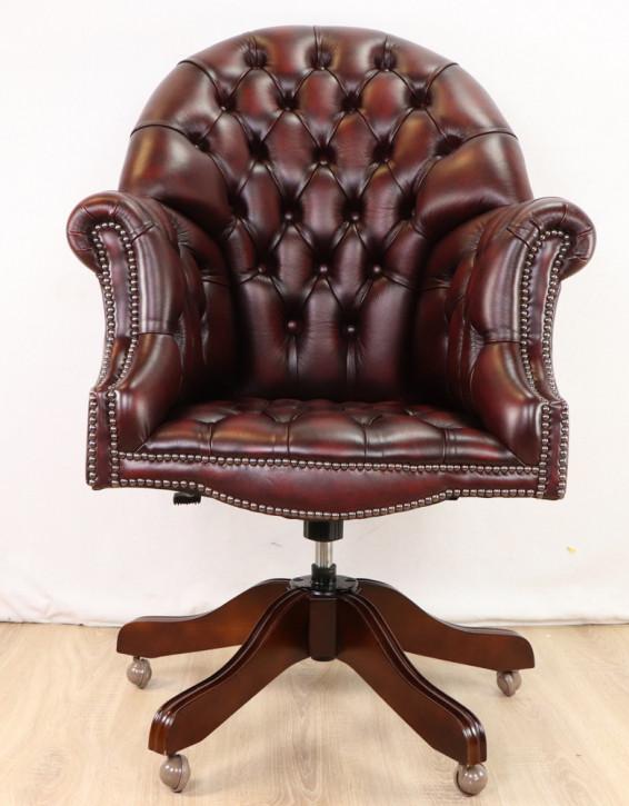 Chesterfield Board chair Drehstuhl Sofort Lieferbar in Birch Antik Rot