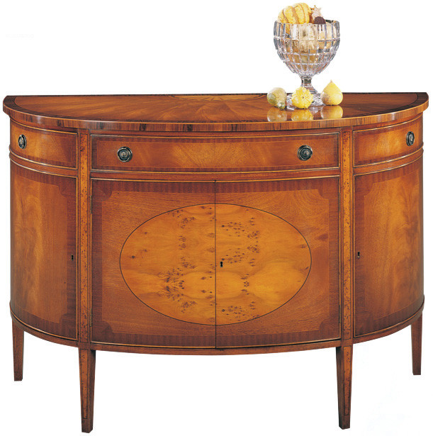 Bevan Funnell Bow Front Sideboard in Shard Mahagoni