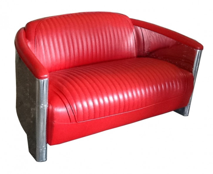 D. Clipper Alu 2 Sitzer Leder Rot Racing