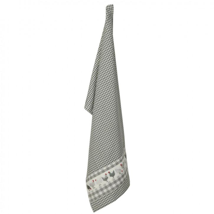 Küchentuch mit Deckelmuster grau kariert 50*85cm