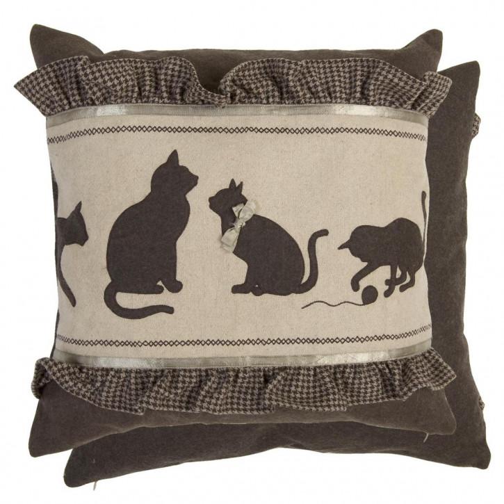 Kissenbezug mehrere Katzen 50 x 50 cm