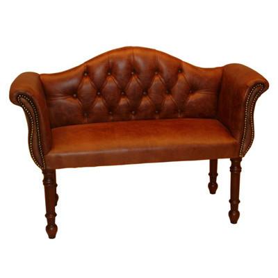 """Hall Seat"" Chesterfield Esszimmerstuhl Lederstuhl"