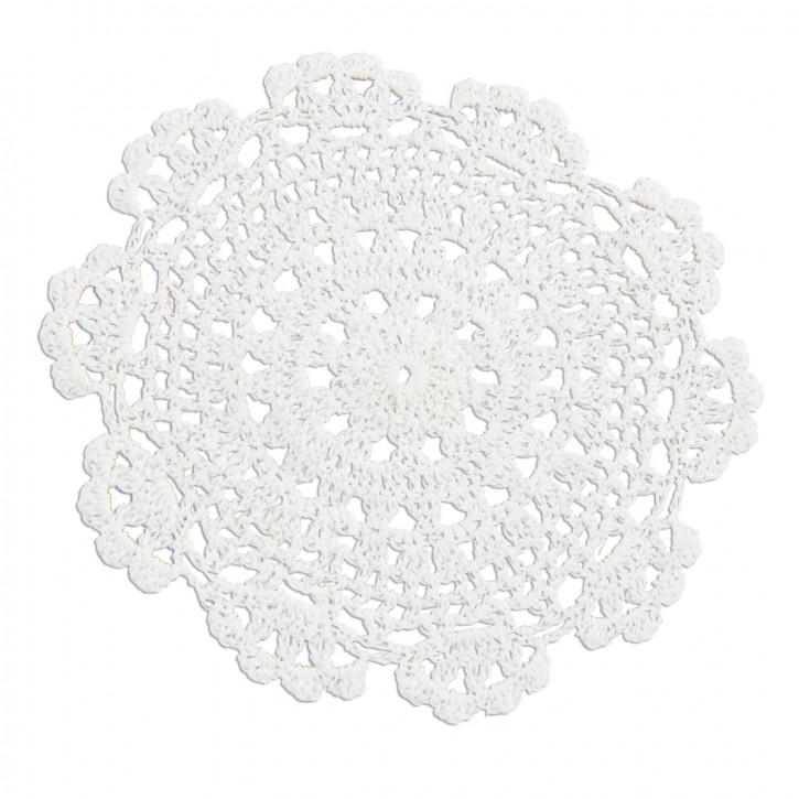 Untersetzer weiß rund Ø16,5cm