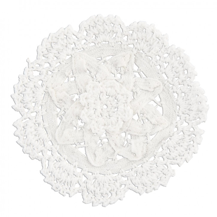 Untersetzer weiß Stern Ø11,5cm