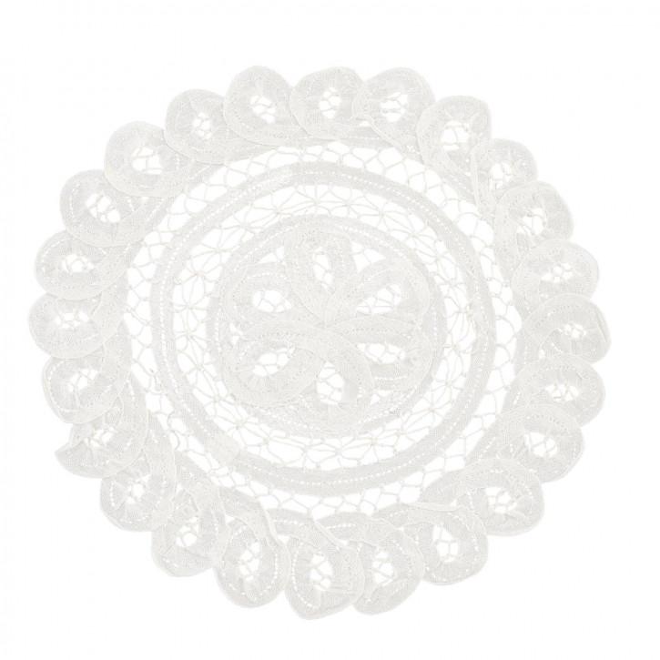 Untersetzer rund weiß Ø25cm