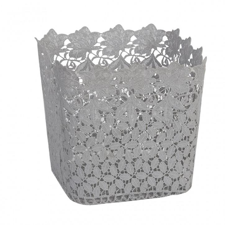 Körbchen Grau ca. 22 x 22 x 23 cm