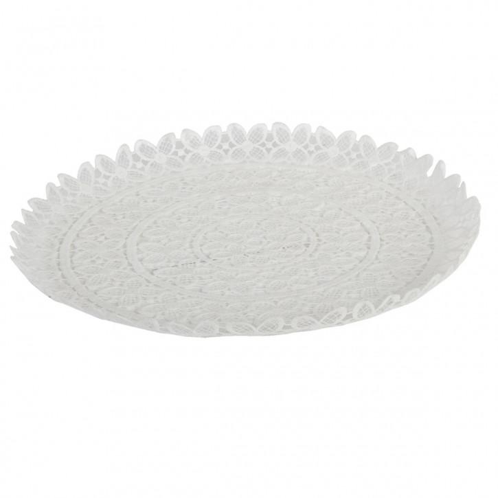 Schale Weiß ca. Ø 36 x 2 cm