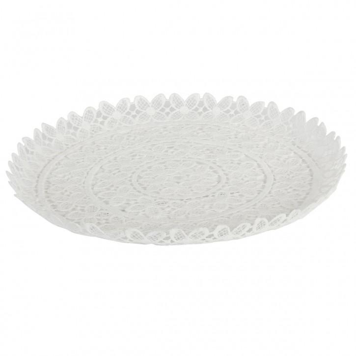 Schale Weiß ca. Ø 30 x 2 cm