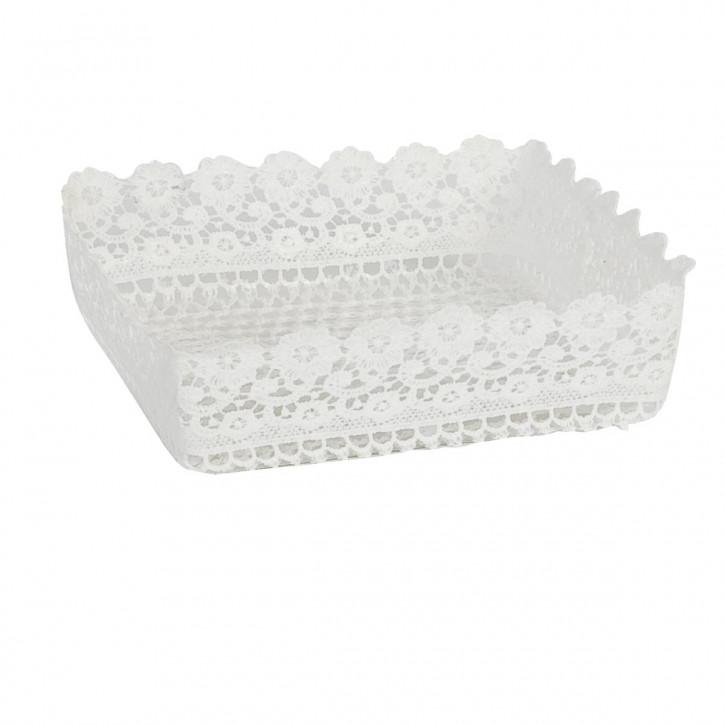 Körbchen Weiß ca. 20 x 20 x 6 cm