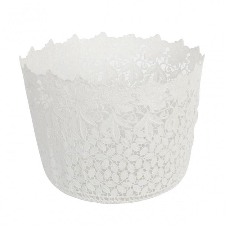 Körbchen Weiß ca. Ø 29 x 22 cm