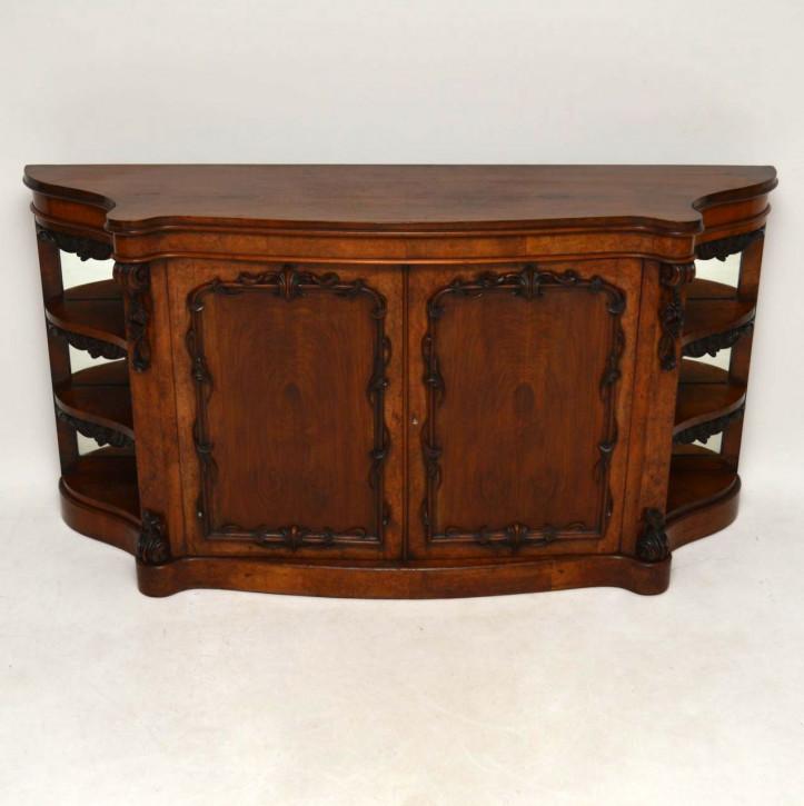 antike viktorianische walnuss sideboard anrichte. Black Bedroom Furniture Sets. Home Design Ideas