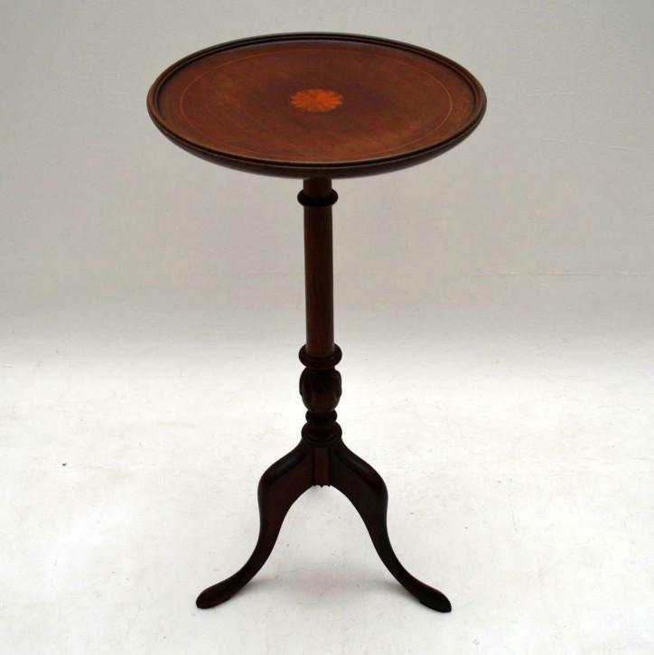 Antiker Edwardian eingelegter Mahagoni Wein Tisch