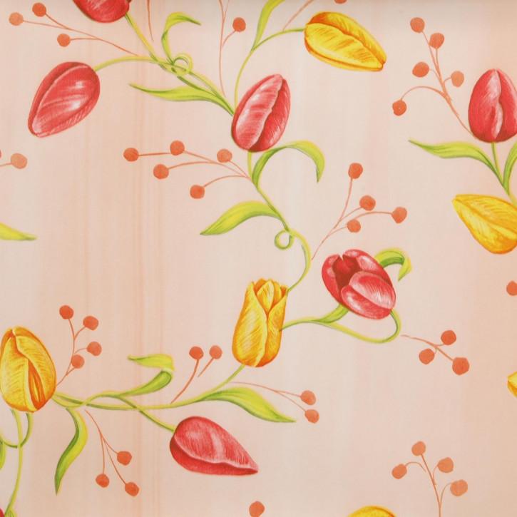---- Tulpen ---- Wachstuch --- Tischtuch --- Tischdecke --- 140 x 200 cm
