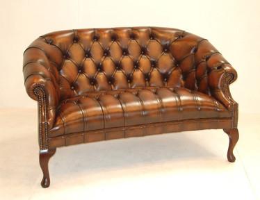 """Cavendish"" original Chesterfield Leder Sofa 3-Sitzer"