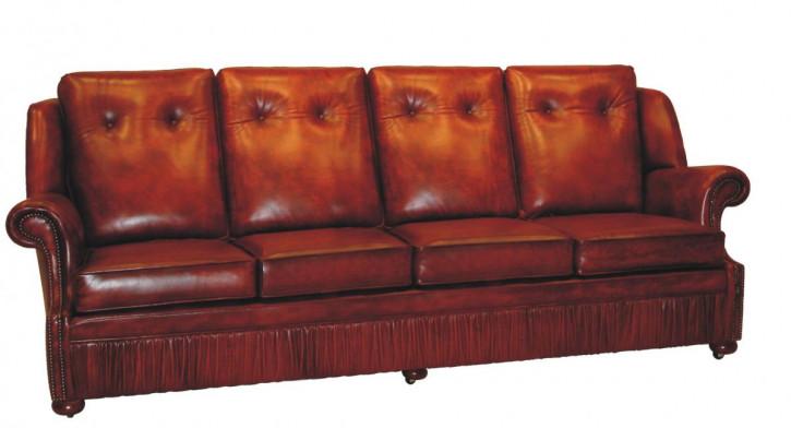 """Chichester"" original Chesterfield Sofa 4-Sitzer englisches Anilin Leder Sofa"