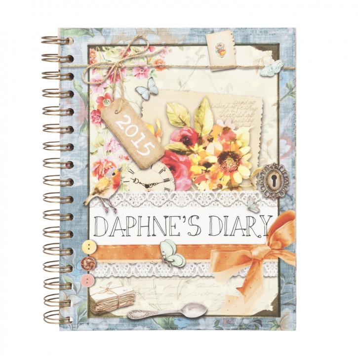 Daphne`s Diary Agenda Kalender Notizbuch 2015 Scrapbooking Nostalgie