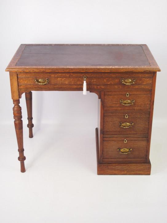 Kleiner antiker edwardianischer Schreibtisch Eiche  1890