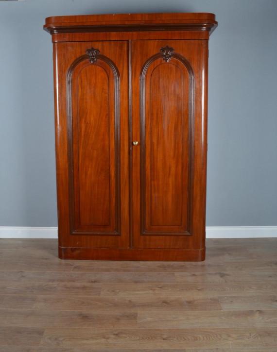Viktorianischer Original Mahagoni Kleiderschrank Massivholz