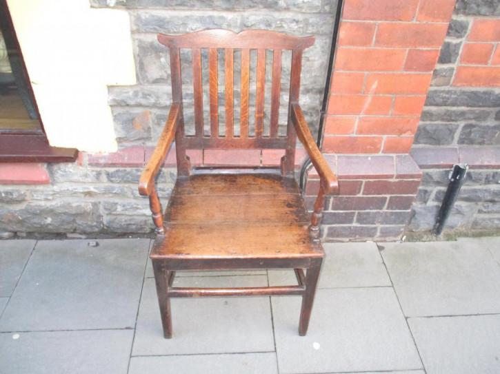 Welsh Eichen Sessel Original 1800
