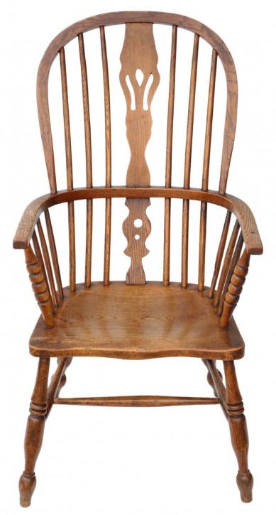Viktoianischer Ash & Ulme Windsor Stuhl Sessel Esszimmer