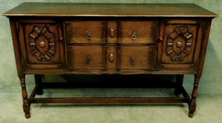 Original Sideboard aus Eichenholz im Jakobinenstil  von ca. 1920