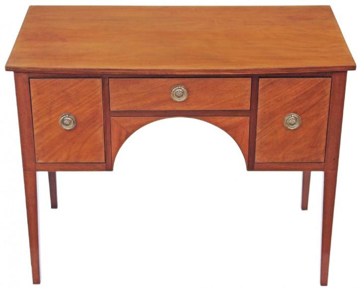 Viktorianisches kleines eingelegtes Satin Birkensideboard oder Schreibtisch aus dem 19.JH