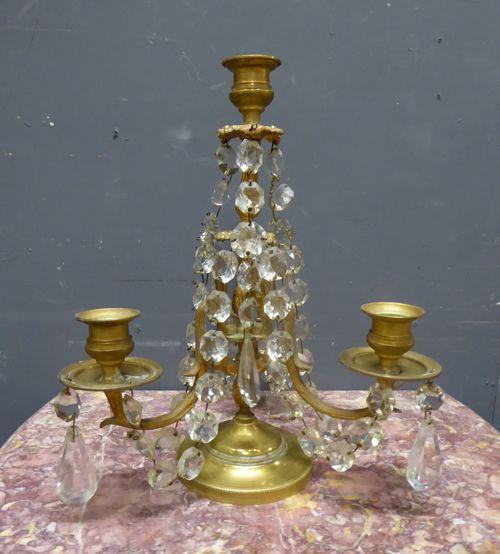 Ein Paar antike französische Tischlichter von ca. 1860