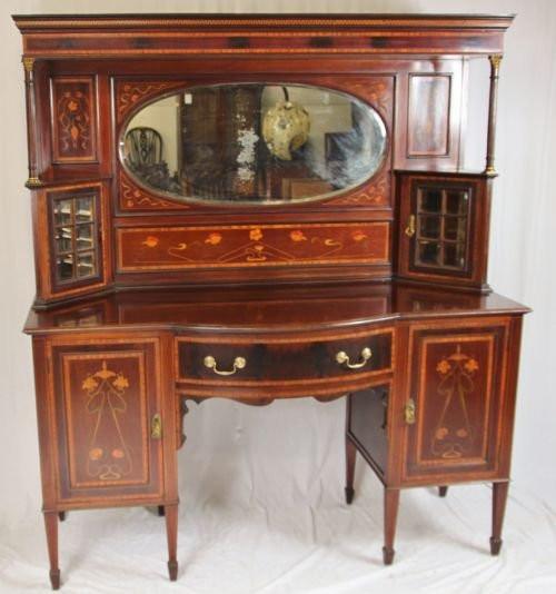 Original Viktorianisches Mahagoni Jugendstil Sideboard