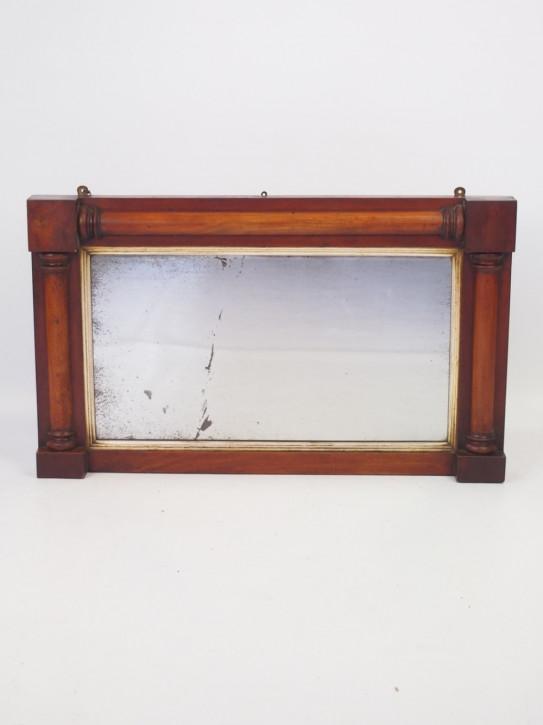 Kleiner Regency Spiegel in Mahagoni gerahmt von ca. 1830