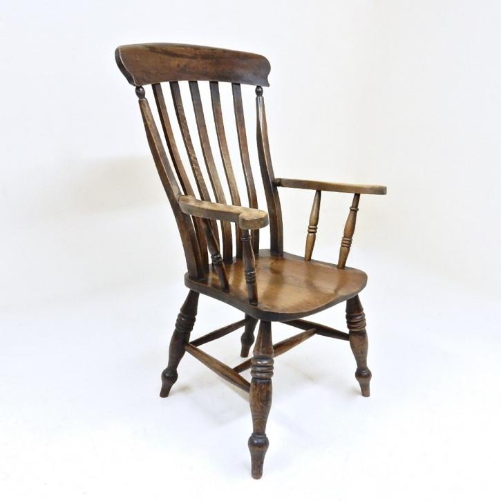 Windsor Armsessel aus Buche, original von 1870-1890