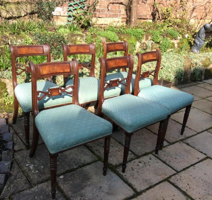 6 Esszimmerstühle aus Mahagoniholz, original regency (ca. 1820)
