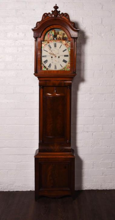 Erstaunliche schottische, original viktorianische Mahagoni Uhr von B. Turiansky Edinburgh, ca. 1850