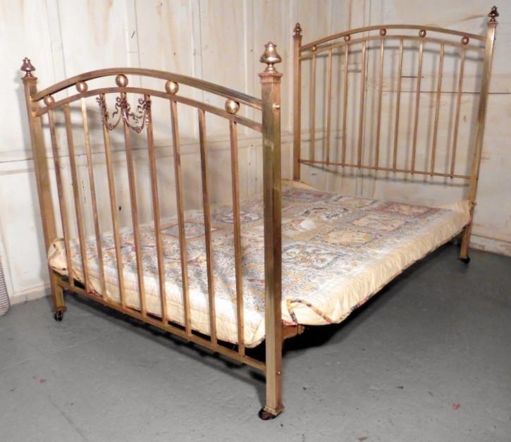 Ein schönes viktorianisches Messing Doppelbett von ca. 1880